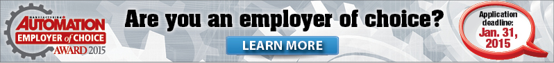Manufacturing Automation Employer of Choice® Award