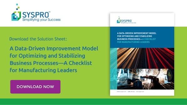 DMAIC Model Checklist - SYSPRO Canada
