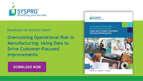 Solution Sheet: Overcoming Operational Risk in Manufacturing