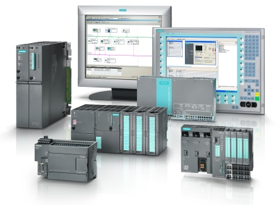 "In the '90s, Siemens brought out ""soft PLCs,"" software that runs on a Windows PC and emulates sophisticated PLCs, in its Simatic product line. (Click to enlarge)"