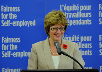 Human Resources Minister Diane Finley