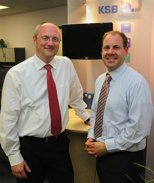 New KSB president Michael Blundell (right) with his predecessor, Jens-Uwe Strunk. Click to enlarge.