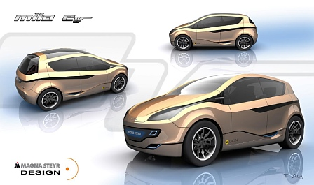Magna first showcased its mila electric vehicle at the 2009 Geneva International Auto Show.