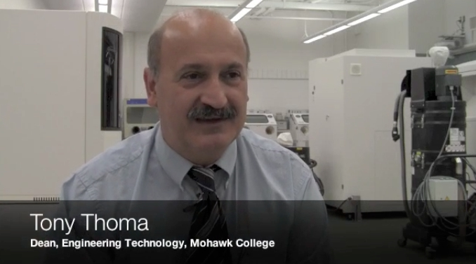 Video Mohawk College Launches Additive Manufacturing Resource Centre Manufacturing Automation
