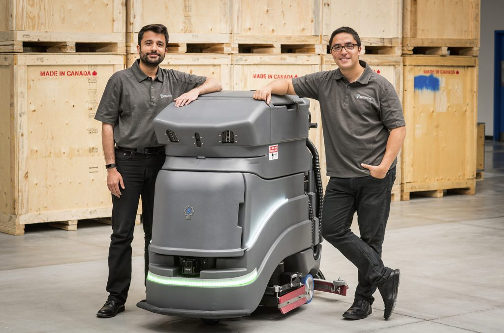 Faizan Sheikh (left) and Pablo Molina (right), co-founders of Avidbots