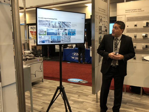 Greg James, regional sales director of Festo Didactic Canada, at CMTS 2019