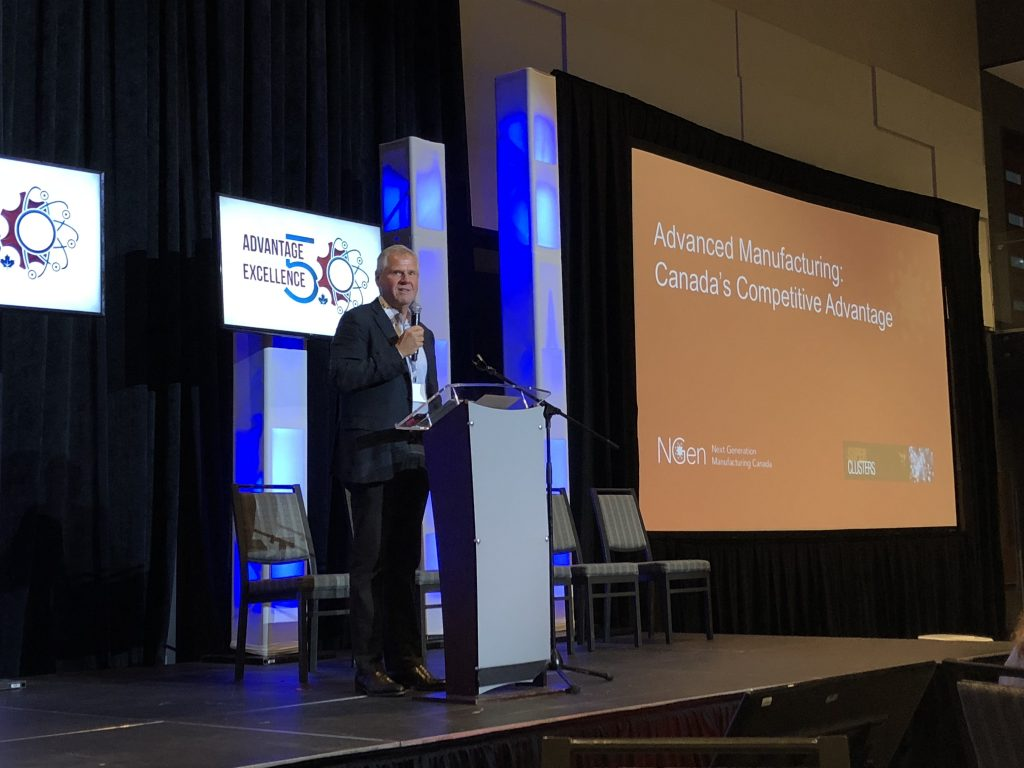 Jayson Myers, president of NGen, at EMC's Advantage Through Excellence –Future of Manufacturing Conference. Photo © Manufacturing AUTOMATION