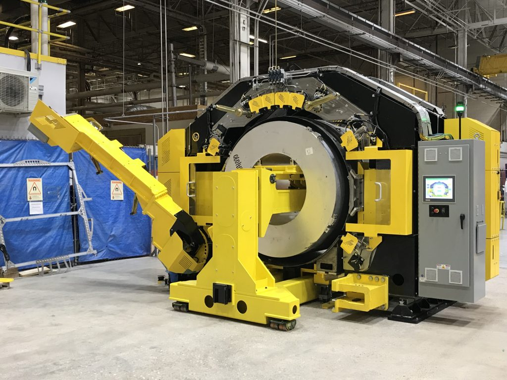 Edmonton-based LJ Welding Automation installed a universal rounding station at GE Healthcare's South Carolina plant. The 28-axis forming device corrects parts that have minor inconsistencies. Photo: GE Healthcare