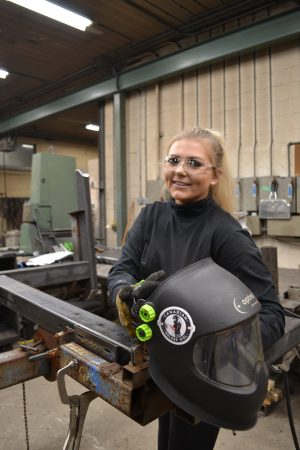 Alicia Butty, a.k.a. Canadian Welder Girl, works at Butty Manufacturing. Photo: Kristina Urquhart/Manufacturing AUTOMATION