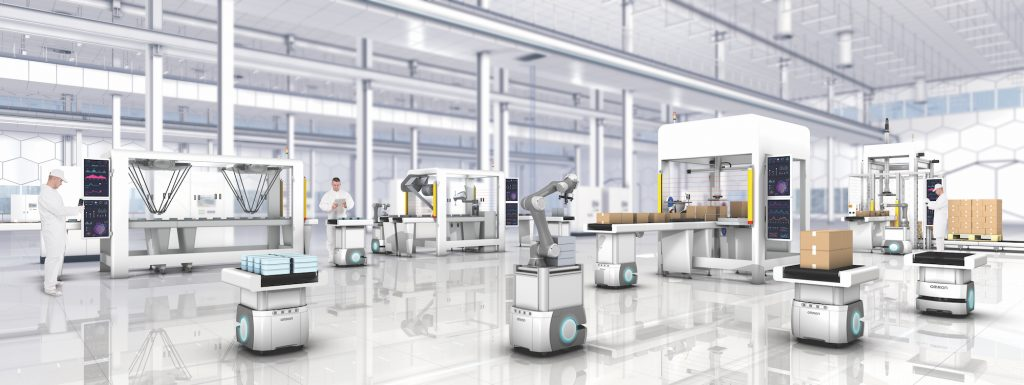 Omron Automation's flexible manufacturing concept. Photo: Omron