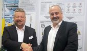 Pilz Canada CEO Andreas Sobotta (left) and WESCO Distribution Canada VP and GM Michael Gross. Photo: Pilz Automation Safety Canada